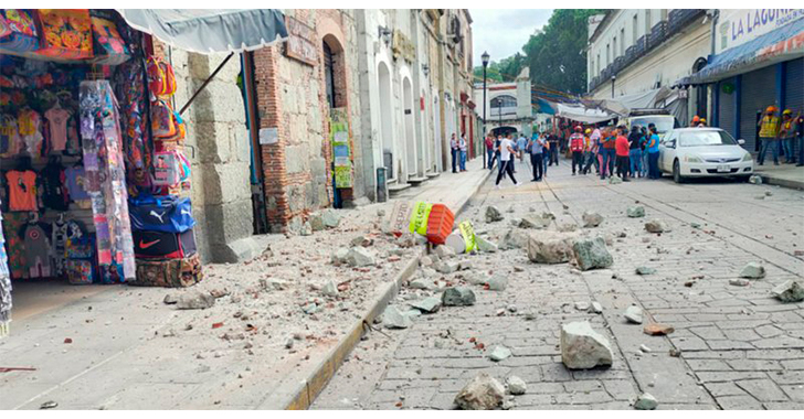 Sismo de magnitud 7,5 aviva en México los fantasmas de 2017 y deja 5 muertos