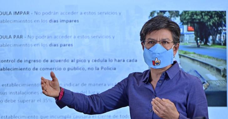 Alcaldesa de Bogotá pide a Duque que Colombia vuelva a cuarentena estricta
