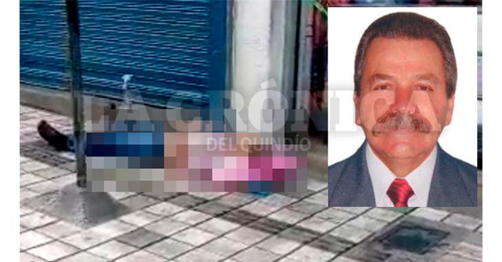 Adulto mayor falleció en vía pública del centro de Armenia