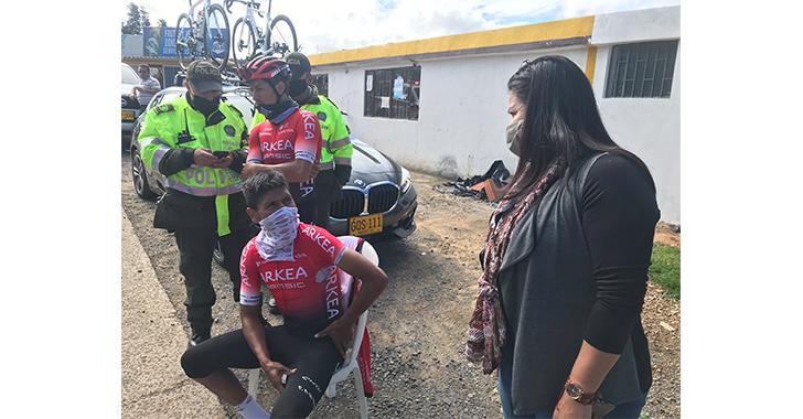 Nairo Quintana, ileso de accidente mientras se entrenaba en su natal Boyacá