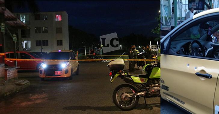 Taxista fue atacado con pistola traumática y atropellado