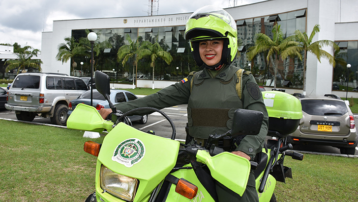 Yudy Pauline, la patrullera que no le teme a los retos