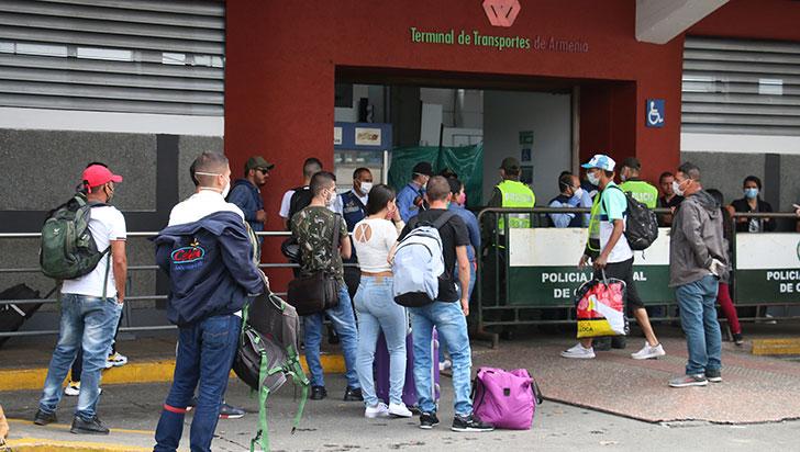En el marco de la emergencia han ingresado 31.655 personas al Quindío