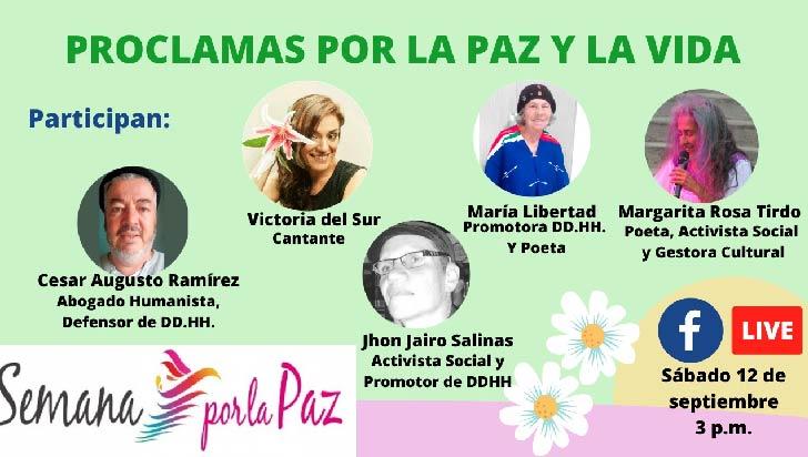 Panel y poemas en el marco de la Semana por la paz