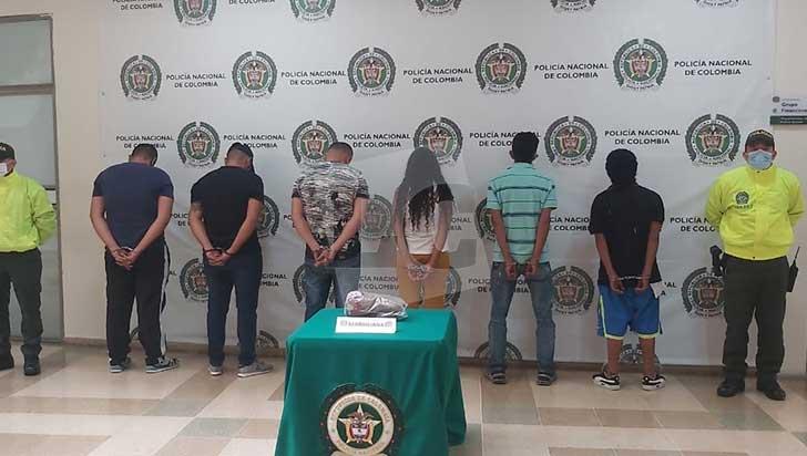 6 presuntos miembros del grupo  delincuencial 'Los Invasores', tras las rejas