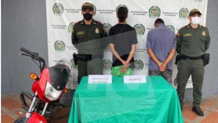 2 adolescentes fueron aprehendidos por hurto de moto en La Tebaida