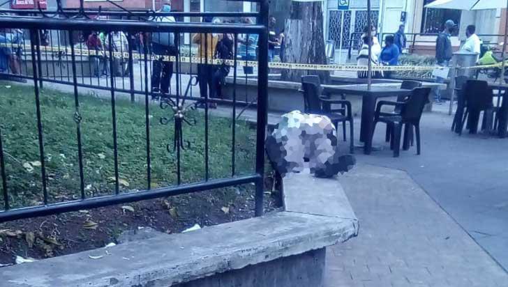 Adulto mayor murió este miércoles en la plaza  Bolívar de Calarcá
