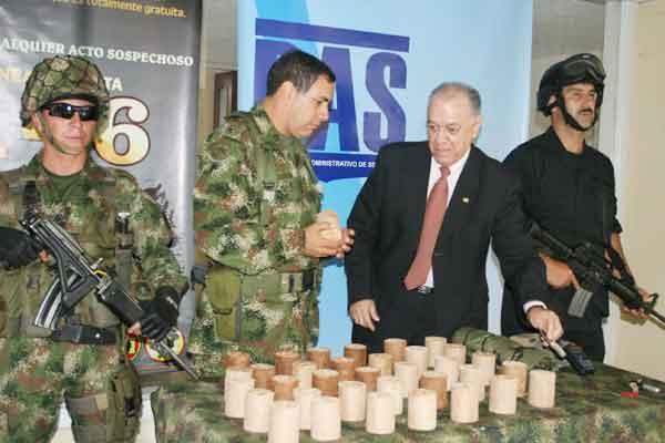 Decomisaron explosivos del frente 50 de las Farc en Salento