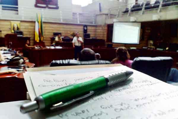 Poca participación de concejales en jornada académica del POT