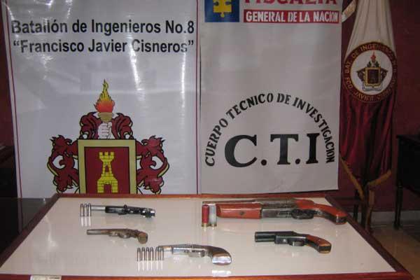 Ejército y CTI incautan armas en el Quindío