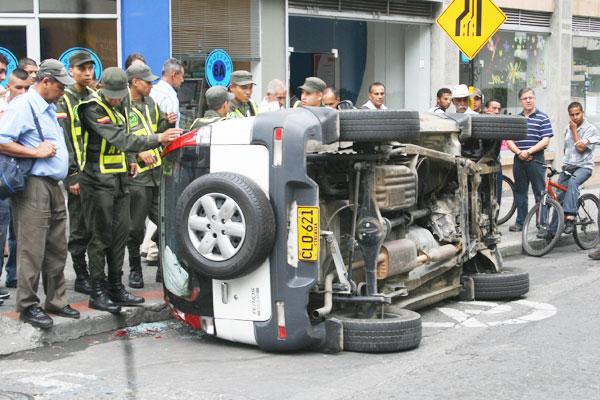 Accidente en la carrera 16 con calle 21 de Armenia