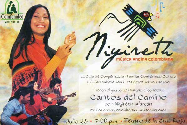 Música andina en el teatro de la Cruz Roja