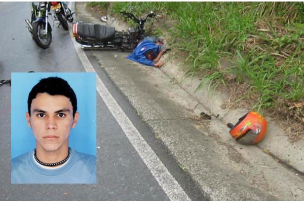 Motociclista muerto en accidente