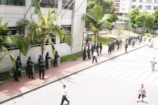 Disturbios frente al CAM