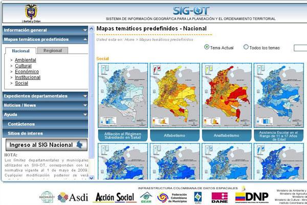 Regiones con nuevo sistema de información geográfica