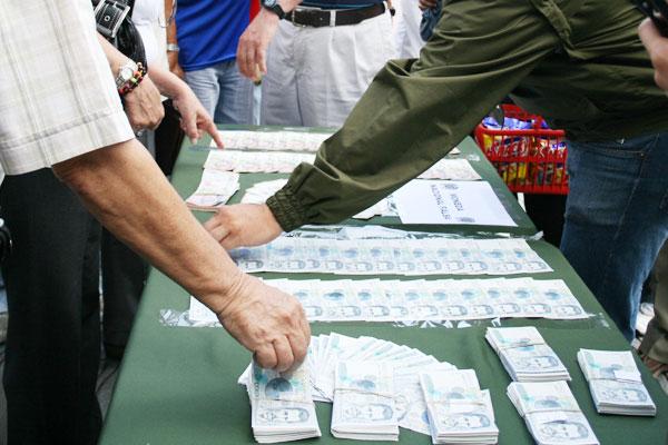 $33 millones falsos se incautaron en el centro de Armenia