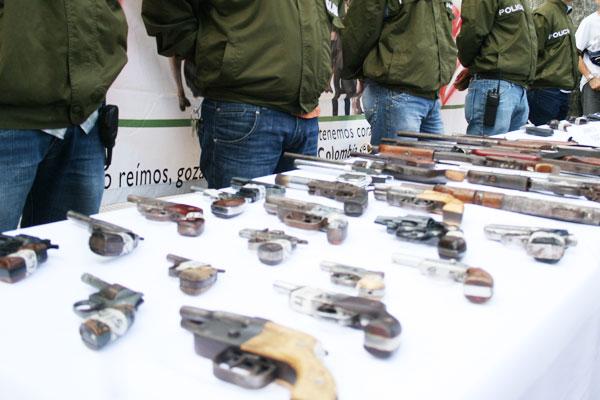 48 armas incautadas en el Quindío por la Policía