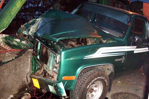 Una mujer herida dejó accidente en la avenida Bolívar