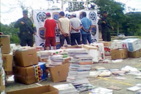 Incautaron 7 mil libros en La Línea