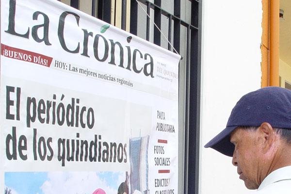La Crónica del Quindío estará hoy en Salento