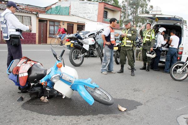 Ocho motociclistas lesionados en accidentes el fin de semana