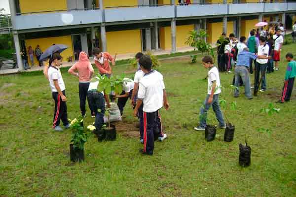 Conciencia ecológica en colegio Nacional