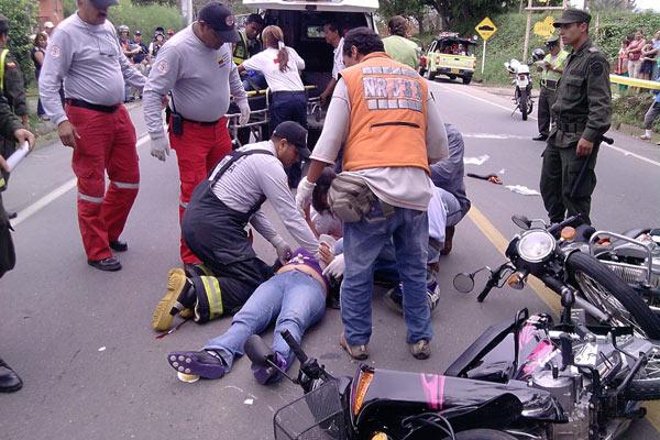 Falleció mujer que resultó lesionada en accidente de tránsito