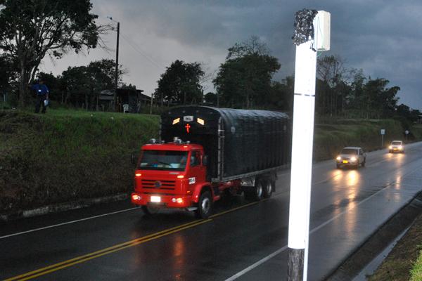 A tiros dañaron el 'polémico' foto-radar de la vía Chagualá
