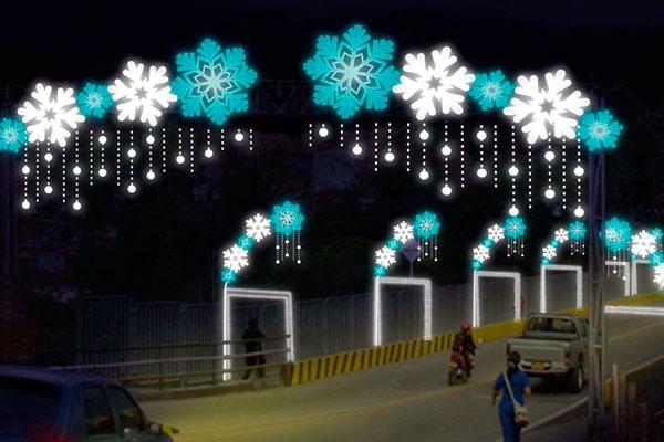 Simularán Una Ciudad En Invierno Con La Decoración Para
