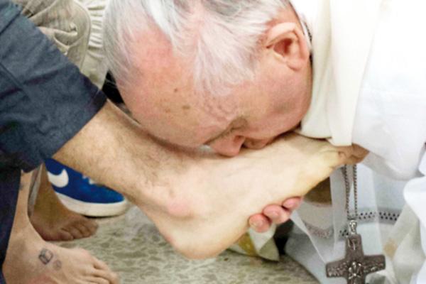 El Papa Francisco y san Francisco de Asís
