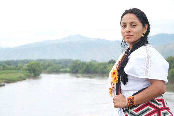 Ati Quigua, la candidata al Senado de la sierra nevada