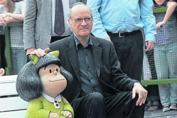 Quino, padre de Mafalda, recibió hoy el Premio Príncipe de Asturias