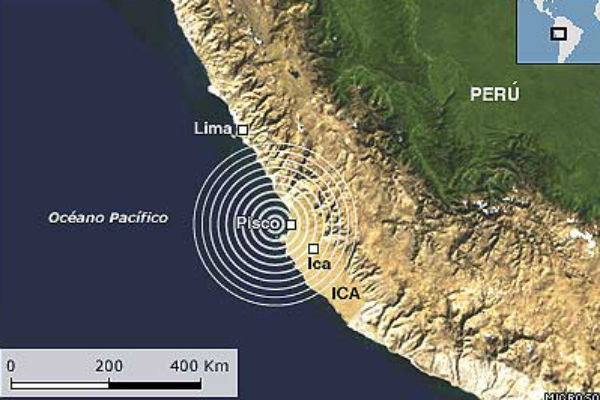 Sismo de magnitud 5,5 en escala Richter sacudió sur de Perú