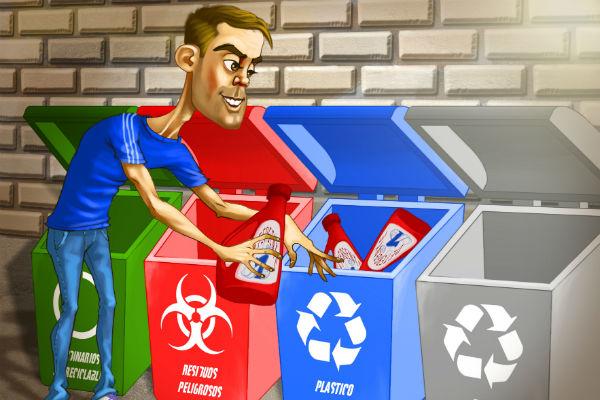 Se debe separar las basuras para contribuir al reciclaje