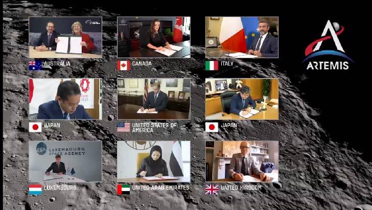 La Nasa anuncia un acuerdo con 7 países con normas para explorar la Luna