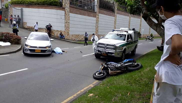 Evalúan posible exceso de velocidad en mortal accidente de tránsito en Armenia