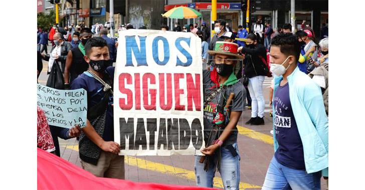 """""""Nos están matando"""", el grito que se propaga contra la violencia"""