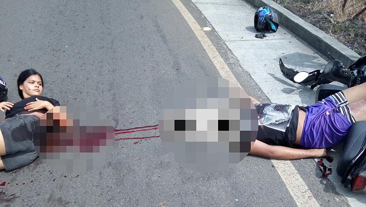 Pareja resultó gravemente herida en accidente de tránsito