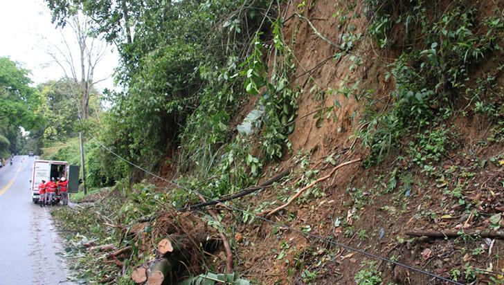 14 casas en Montenegro  afectadas por lluvias y vendaval