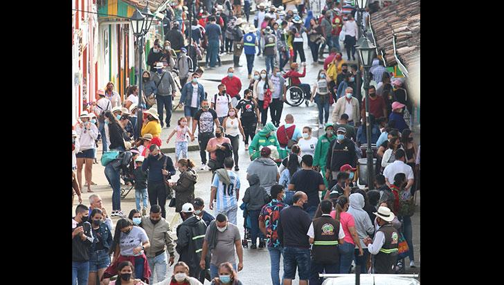 En el centro de Salento solo pueden estar 4.871 personas al mismo tiempo