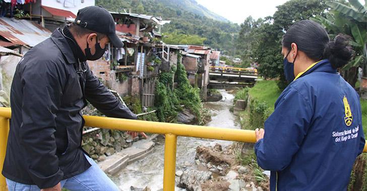 Pijao en alerta roja temprana por riesgo de deslizamiento y crecida de fuentes hídricas