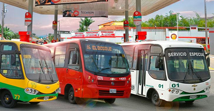 Por falta de combustible, Cooburquín suspende operación en servicio de transporte urbano