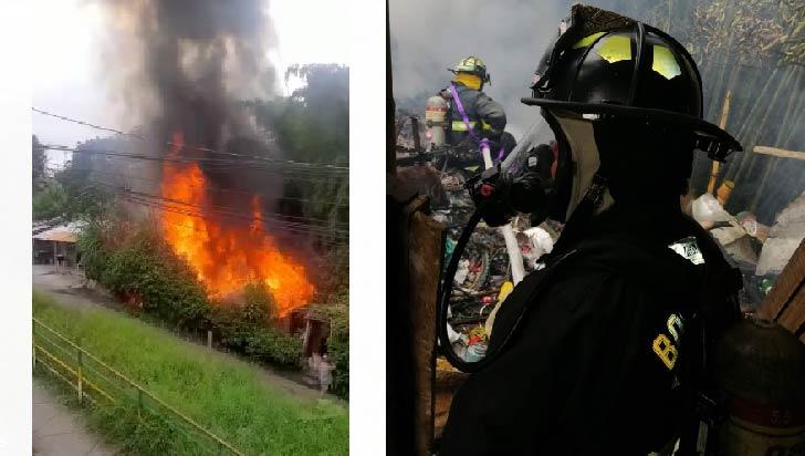 Incendio afectó una vivienda en el barrio Gibraltar de Armenia