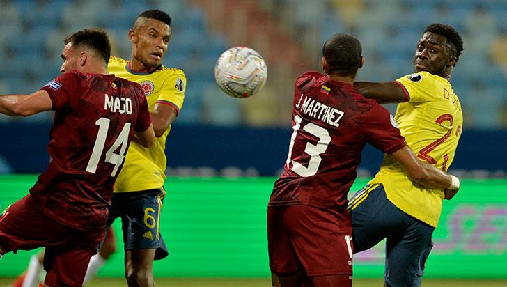 Colombia no logró sumar los 3 puntos ante Venezuela