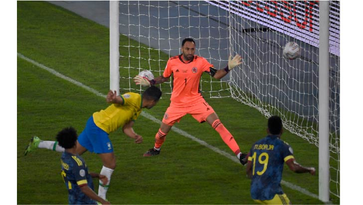 2-1. Brasil sigue imparable y derrota a Colombia
