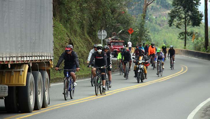 Ciclismo de ruta, actividad de alto riesgo