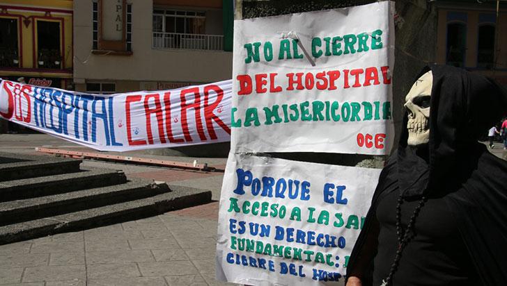 Calarqueños piden misericordia con el hospital