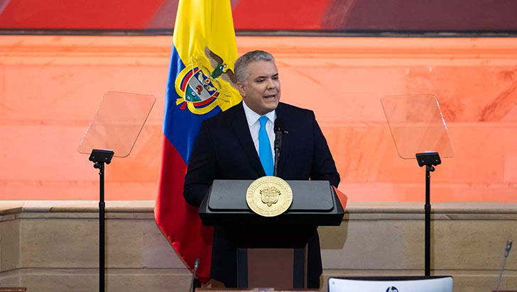 El presidente habló de una Colombia que muchos aseguran no existe