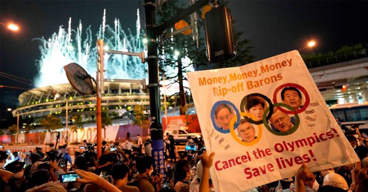 Un detenido en las manifestaciones contra los Juegos Olímpicos de Tokio