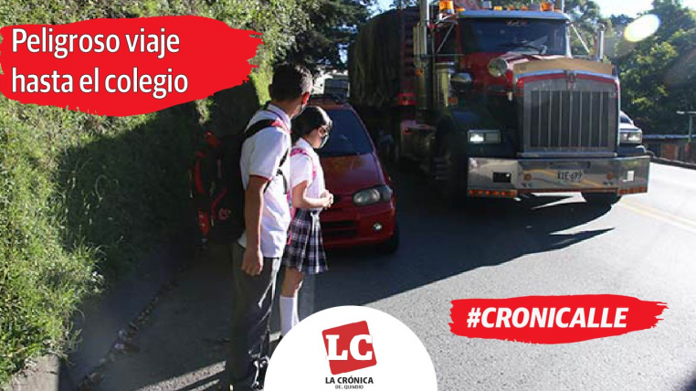 #Cronicalle   Niños arriesgan la vida en La Línea para llegar a la escuela